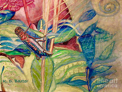 Painting - Sun Salutations To A Grasshopper  by Kimberlee Baxter