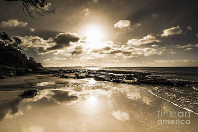 Sun Sand And Sea Reflection Art Print