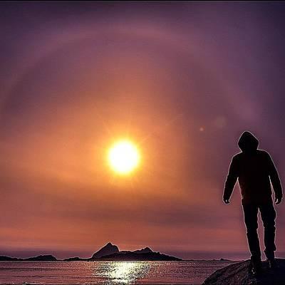 Music Wall Art - Photograph - #sun #sea #raysimage #halo #sunhalo by Snap Jeanraymondcool