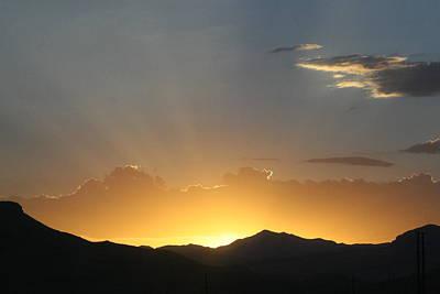 Photograph - Sun Set 3 by Paul SEQUENCE Ferguson             sequence dot net