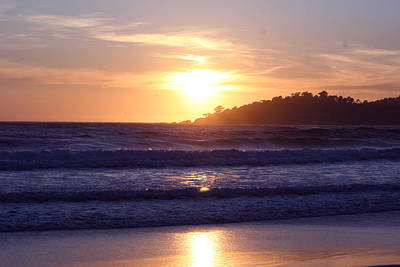 Sun Set In Carmel Art Print by Ofelia  Arreola