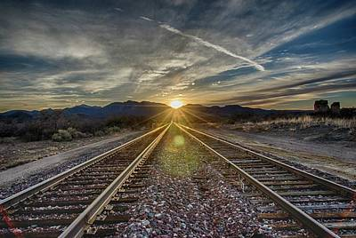 Photograph - Sun Sets At The End Of The Line by Gaelyn Olmsted