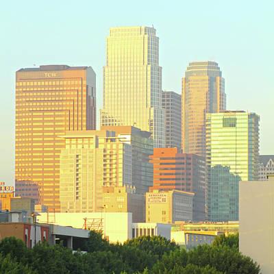 Sun Sets On Downtown Los Angeles Buildings #2 Art Print