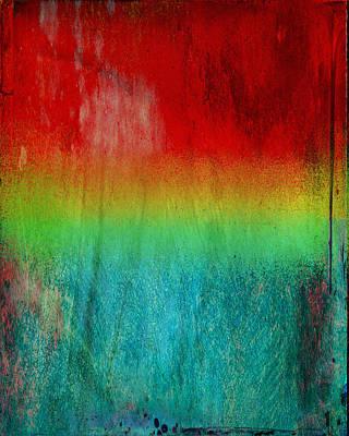 Layered Digital Painting - Sun Sets On Summer by Julie Niemela