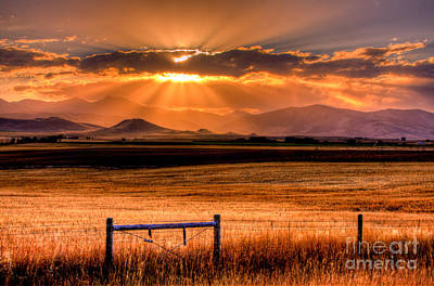 Hay Photograph - Sun Sets On Summer by Katie LaSalle-Lowery
