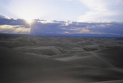 Sun Sets Over Miles Of Sand Dunes Art Print by Taylor S. Kennedy