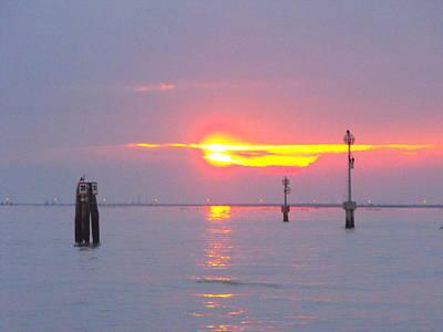 Sun Sets Over Venice II Art Print by Viviana Puello Villa