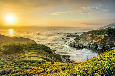 Carmel Photograph - Sun Setting At Big Sur by James Udall