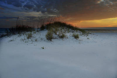 Photograph - Sun Setting Behind The Dunes 2 by Renee Hardison