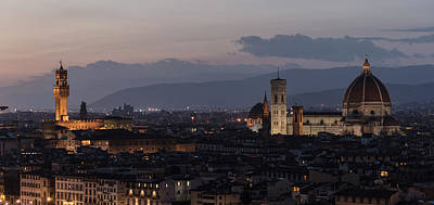 Photograph - Sun Setting In Florence Italy  by John McGraw