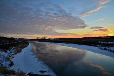 Photograph - Sun Setting In Winter In Glacial Park by Ray Mathis