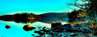 Sun Setting On 7th Lake Art Print by David Patterson