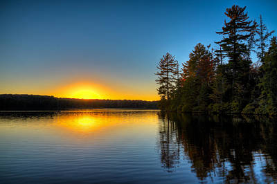 Photograph - Sun Setting On Nicks Lake by David Patterson