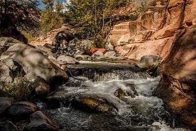 Photograph - Sun Setting On The Creek by Teresa Wilson