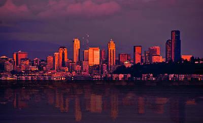 Sound Digital Art - Sun Setting On The Emerald City by Dale Stillman