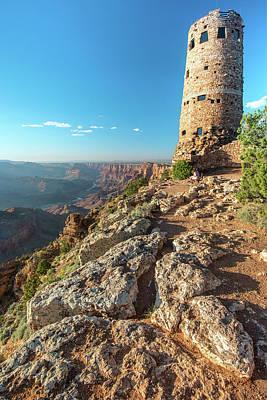 Photograph - Sun Setting On The Watchtower - Grand Canyon Np by Gregory Ballos