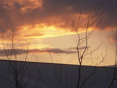 Photograph - Sun Setting Orange by Deborah Finley