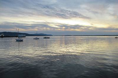 Photograph - Sun Setting Over Bellingham Bay by Karen Molenaar Terrell