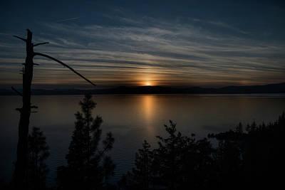 Photograph - Sun Setting Over Lake Tahoe by Dan Friend