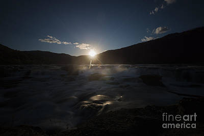 Photograph - Sun Setting Over Sandstone Falls by Dan Friend