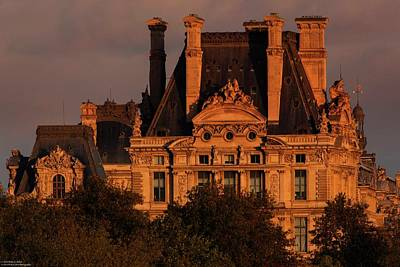 Photograph - Sun Setting Over The Louvre  by Hany J