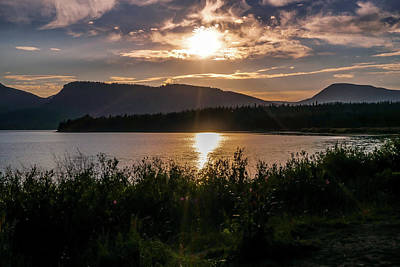 View Photograph - Sun Setting by Ric Schafer