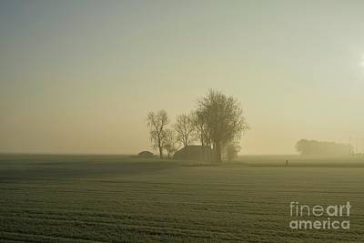 Photograph - Sun Shining On An Early Foggy Morning by Patricia Hofmeester