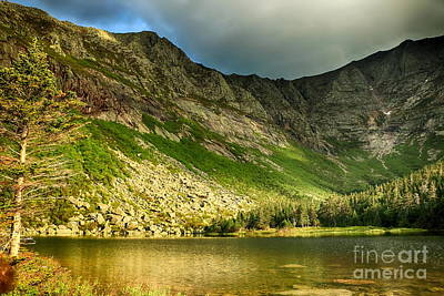 Sun Shining On Chimney Pond  Art Print