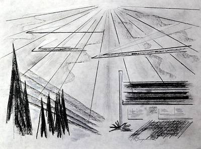 Drawing - Sun Shiny Day by J R Seymour
