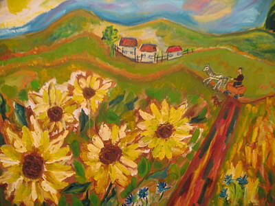 Sun Song Art Print by Maria  Kolucheva