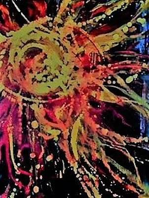 Painting - Sun Burst Iv by Debbie Frame Weibler