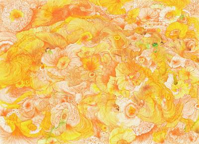 Sun - #ss16dw022 Art Print by Satomi Sugimoto