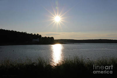 Photograph - Sun Star Over Atkins Bay by Sandra Huston