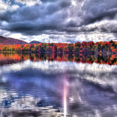 Art Print featuring the photograph Sun Streaks On West Lake by David Patterson
