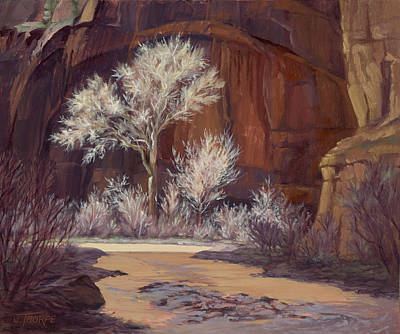 Painting - Sun Struck Zion by Jane Thorpe