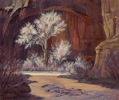Painting - Sun Struck Zion by Jane Thorpe