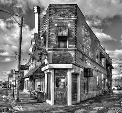 Photograph - Sun Studio B W The Rock N Roll Birthing Place Memphis Tennessee Art by Reid Callaway