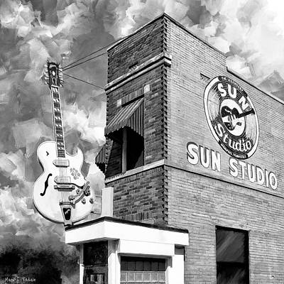 Mixed Media - Sun Studio - Memphis Landmark by Mark Tisdale