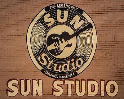 Photograph - Sun Studio Memphis Tennessee Sign Art by Reid Callaway