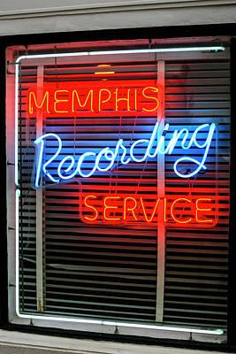 Sun Studio Neon Sign Memphis Art Print by Chris Smith