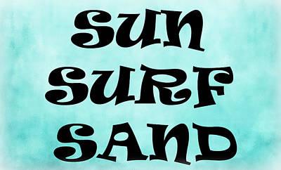 Photograph - Sun Surf Sand by Athena Mckinzie