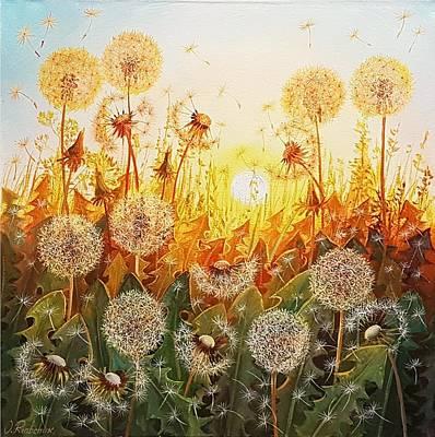Wall Art - Painting - Sun Symphony by Oleg Riabchuk