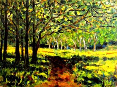 Sun Through The Trees Original
