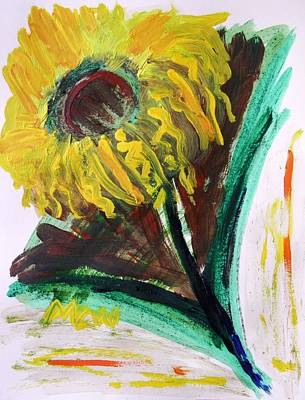 Art Print featuring the painting Sun Tilt by Mary Carol Williams