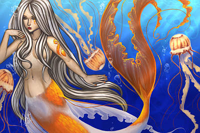 Koi Digital Art - Sun Touched by KimiCookie Williams