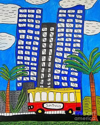 Painting - Sun Trolley by Brandon Drucker