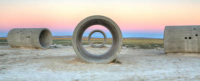 Photograph - Sun Tunnel Dusk Panorama by David Andersen
