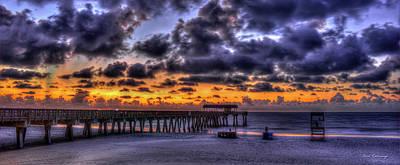 Photograph - Sun Up Tybee Pier Sunrise Beach Art by Reid Callaway