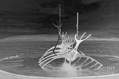 Photograph - Sun Voyager, Reverse Black And White by Catherine Sherman