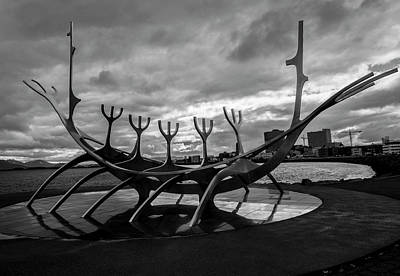Photograph - Sun Voyager, Reykjavik, Iceland by Venetia Featherstone-Witty